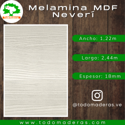 Melamina MDF Neverí 18mm