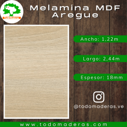 Melamina MDF Aregue 18mm