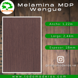 Melamina MDP Wengue 18mm