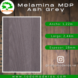 Melamina MDP Ash Grey 18mm