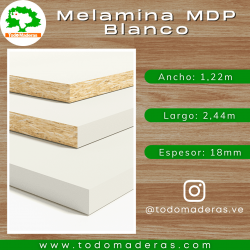 Melamina MDP Blanco 18mm