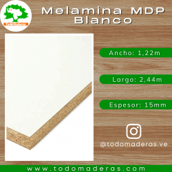 Melamina MDP Blanco 15mm