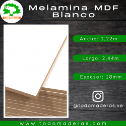 Melamina MDF Blanco 18mm