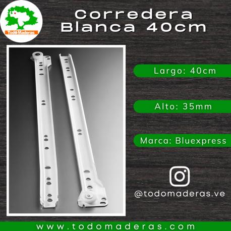 Corredera Blanca 40cm