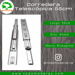 Corredera Telescópica 55cm